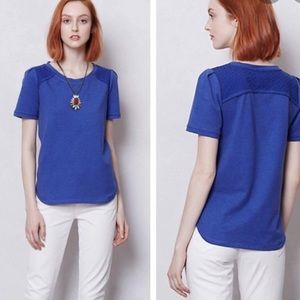 Saturday Sunday by Anthropologie Blue Eyelet Top